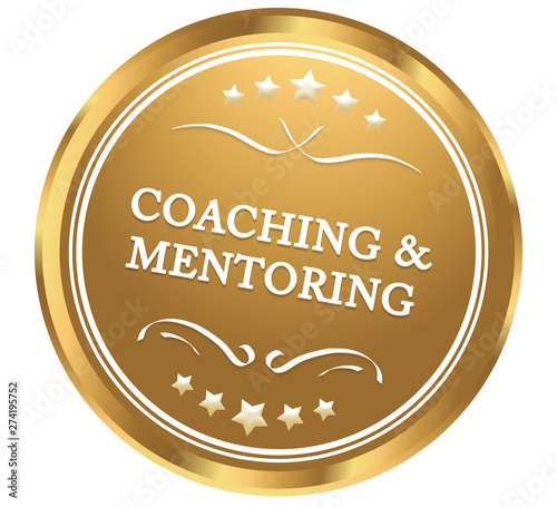 Photo  Coaching and mentoring web Sticker Button