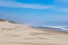 Looking Along A Sandy Beach In...