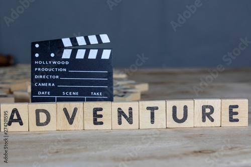 Fotografija Adventure Movie Concept, Clapperboard