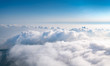 canvas print picture - The sea of clouds under the blue sky and white clouds, Emei mountain, Sichuan province, China