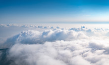 The Sea Of Clouds Under The Blue Sky And White Clouds, Emei Mountain, Sichuan Province, China