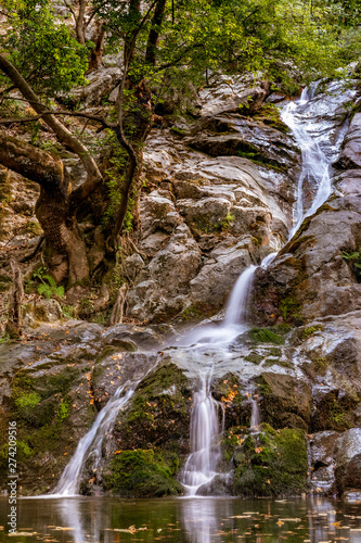 Overview of 1st waterfall at Paradisos, Samothraki (GR)