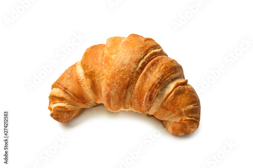 Foto croissant isolated on white background
