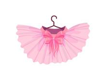 Pink Ballet Tutu. Vector Illus...