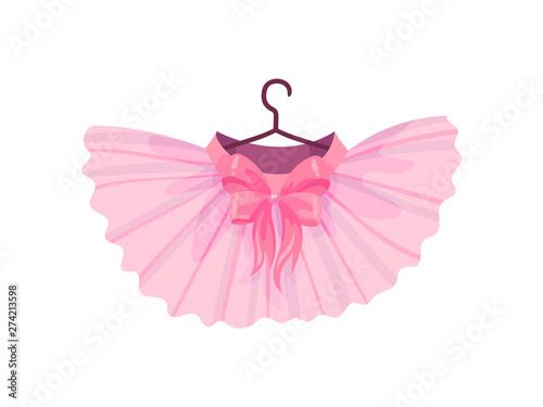 Pink ballet tutu. Vector illustration on white background. Billede på lærred