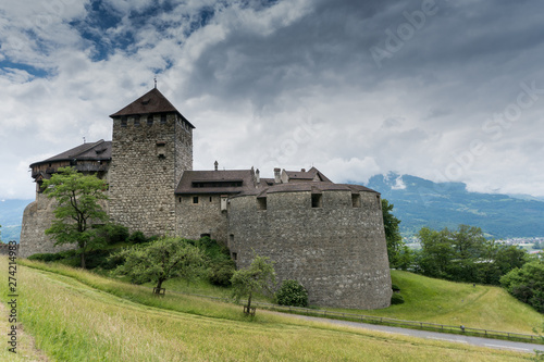 Garden Poster Fortification A view of the historic Vaduz Castle in Liechtenstein