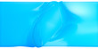 canvas print picture Abstract Blue wide banner background. Liquid uneven surface, 3d illustration.