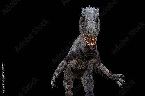 Photo indominus rex isolated  on black background