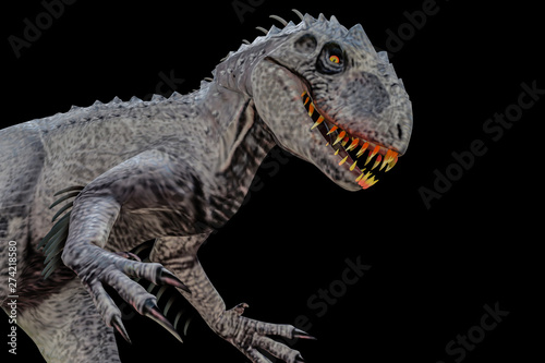 indominus rex isolated  on black background Wallpaper Mural