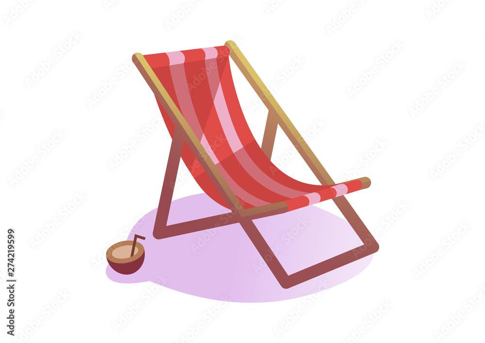 Fototapety, obrazy: Chair beach isolated