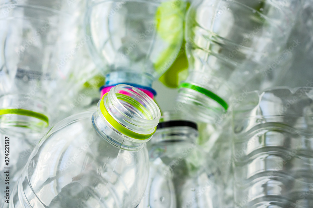 Fototapety, obrazy: plastic bottles recycling background concept