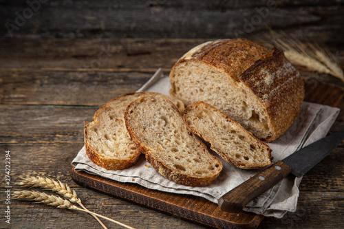 Foto op Plexiglas Brood slices of freshly baked homemade sour dough bread