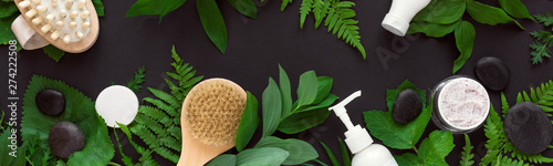Cadres-photo bureau Spa Natural cosmetics and leaves