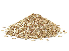 Oat Flakes Heap Or Pile Isolat...