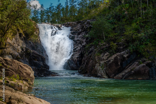 Big Rock Falls, Belize, Waterfall Wallpaper Mural