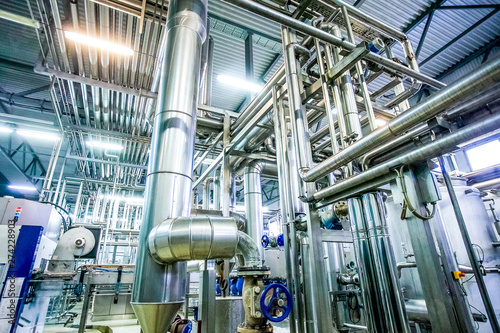 Fotomural  distillation process with many pipelines at the new bright factory