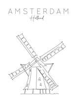 Poster Holland Windmill