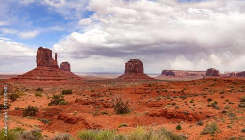 Poster Brick Monument Valley Tribal Park in the Arizona-Utah border, USA