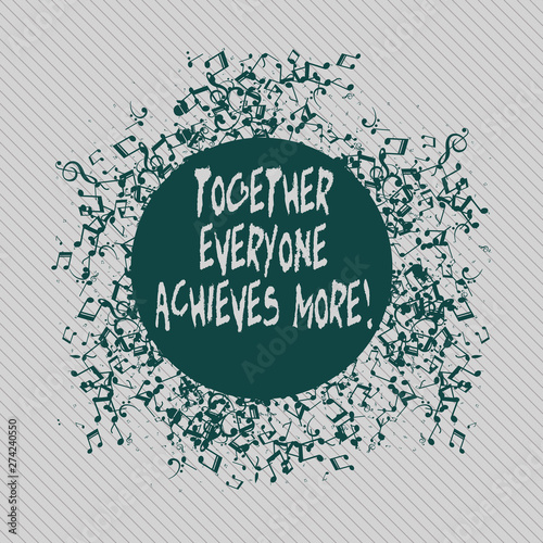 Photo  Conceptual hand writing showing Together Everyone Achieves More