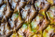 Close-up Of Pineapple Skin Tex...