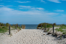 Scenic Dunes Panorama On A Bri...