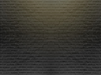 Black brick wall for background and texture.-Image