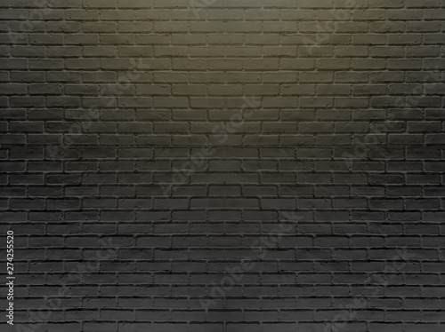 Foto op Plexiglas Black brick wall for background and texture.-Image