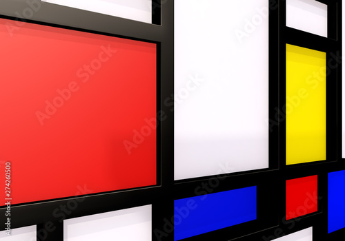 Photo  Abstract background with modernist wall or shelves