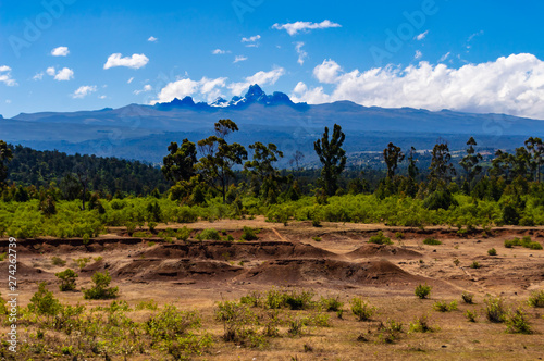 Panorama of Mount Kenya, Poster Mural XXL