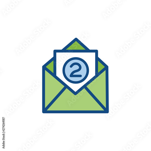 Photo Delivery or Scheduling icon with the number 2 on it - shows 2 times per month