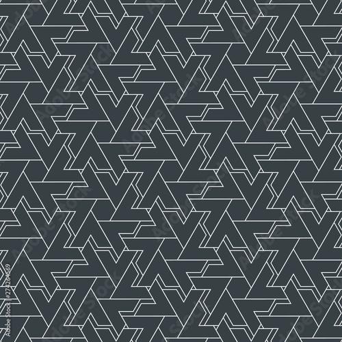 Fototapeten Künstlich abstract stripe geometric chevron or triangle, vector pattern background