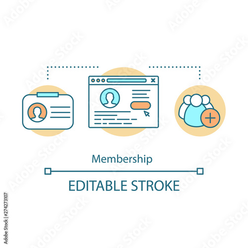 Membership concept icon