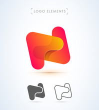 Vector Abstract Letter N Logo ...