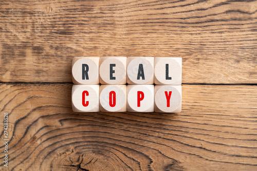 Fototapeta Real and Copy