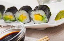 Japanese Cuisine – Maki Roll With Avocado