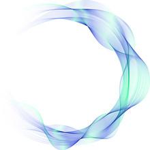Abstract Vector Background. Abstract Wave Circles. Circle Frame.