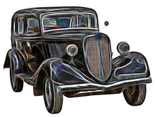 Fractal Picture Of Retro Car