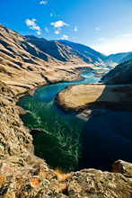 The Snake River, As Seen From Suicide Point At Hells Canyon In Idaho.