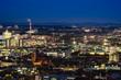 Aussicht über Stuttgart zur blauen Stunde