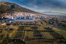 Aerial View Of The Monastery Of El Escorial_Madrid_Spain