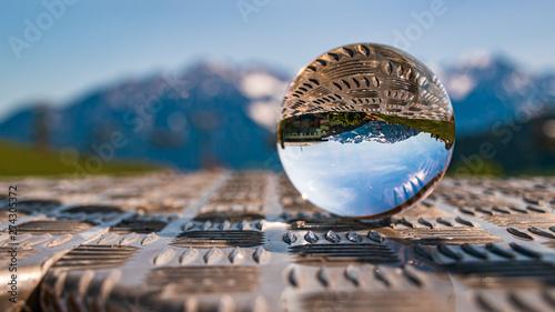 Crystal ball alpine landsca...