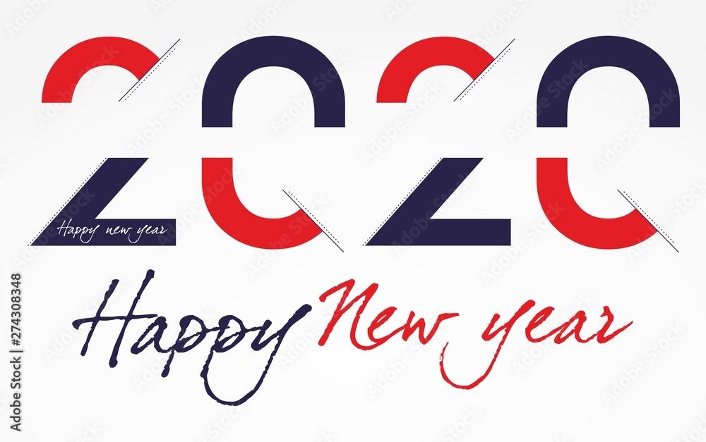 Obraz Happy New Year 2020 fototapeta, plakat
