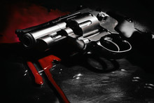 Beautiful Revolver And Red Blo...