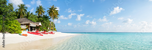 Fotografie, Obraz  Summer vacation on a tropical island with beautiful beach and palm trees