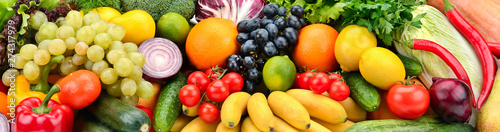 Background fruits and vegetables. Healthy eating - 274317979