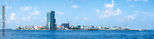 The city of Malé, Capital of the Maldives, North Malé atoll, Maldives Wallpaper Mural