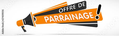mégaphone : offre de parrainage Canvas Print