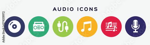 Obraz Vector sound music-audio icons. - fototapety do salonu