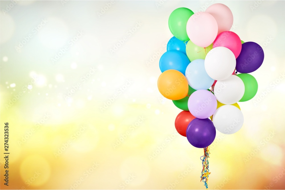 Fototapety, obrazy: Bunch of colorful balloons on background
