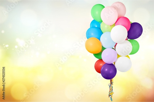Foto auf Leinwand Bekannte Orte in Asien Bunch of colorful balloons on background